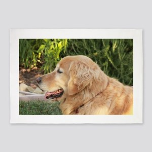 Nala golden retriever profile close 5'x7'Area Rug